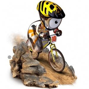 Wenlock se prepara para as Olimpíadas treinando BMX
