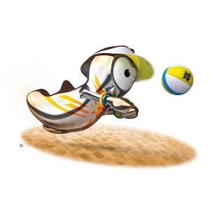Wenlock versão vôlei de praia