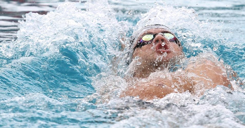 Thiago Pereira nada na eliminatória da prova dos 200m costas