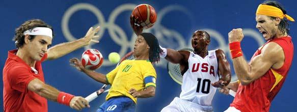 Bryant, Federer, Nadal e Ronaldinho eram as celebridades dos Jogos