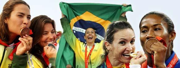 Mulheres conseguem medalha individualmente e na vela pela 1ª vez