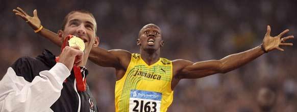 Phelps e Bolt fizeram em história na China