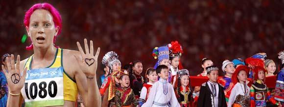 Imagens de paz e crianças amenizaram a tensão
