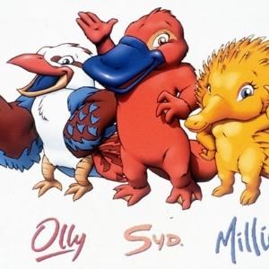 Ollie, Syd e Millie foram as mascotes de 2000.