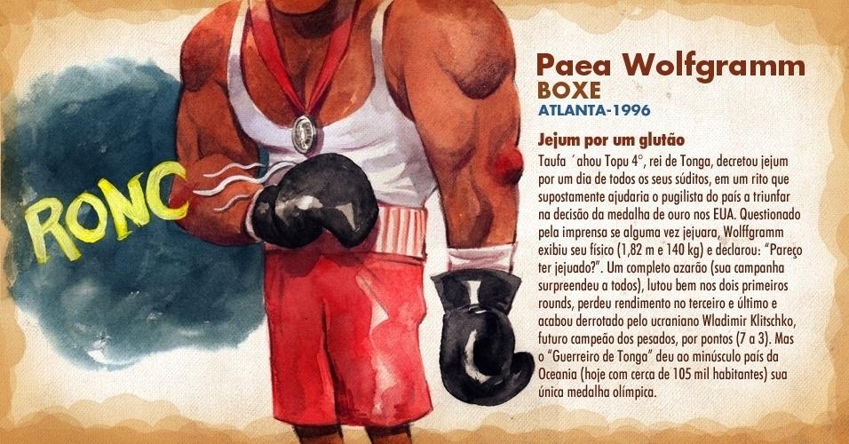 Paea Wolfgramm, pugilista de Tonga, foi vice-campeão na Olimpíada de Atlanta-1996