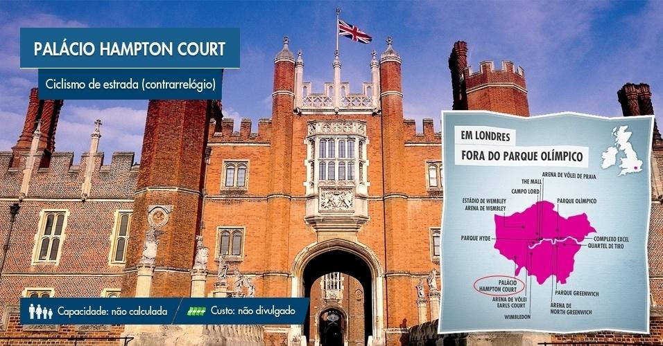 O Palácio Hampton Court, em Londres