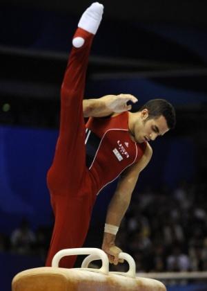 Americano Danell Leyva durante disputa do Mundial de Ginástica de Tóquio, em 2011